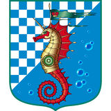 Sea horse red. Marine chess red sea horse Royalty Free Stock Photos