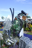 Sea horse sculpture made from recycled materials Royalty Free Stock Images