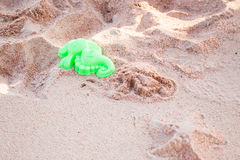 Sea horse shape of sand toy Royalty Free Stock Photos