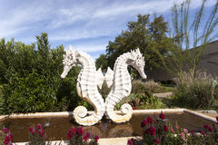 Sea Horse Statue at the Fair Park, Dallas, Texas Royalty Free Stock Photo