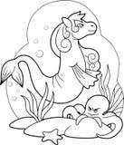 Sea horse swim Stock Images
