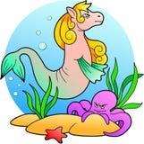 Sea horse swim Royalty Free Stock Images