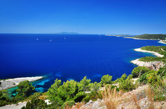 Sea on Hvar Island royalty free stock image