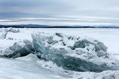 Sea ice. Ice figure in the coastal marine area. White sea, Russia Stock Photo