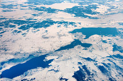 Sea with ice from above Stock Images