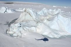 Sea ice on Antarctica. Aerial view of the sea ice in the Weddell Sea, Antarctica Royalty Free Stock Photos
