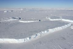 Sea ice on Antarctica. Aerial view of the sea ice in the Weddell Sea, Antarctica Stock Images
