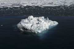Sea ice on Antarctica. Aerial view of the sea ice in the Weddell Sea, Antarctica Royalty Free Stock Photography