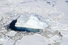 Sea ice on Antarctica. Aerial view of the sea ice in the Weddell Sea, Antarctica Stock Photography
