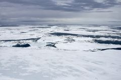 Sea ice on Antarctica Royalty Free Stock Images