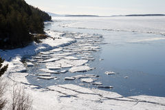 Sea ice is destroyed in the spring Stock Images