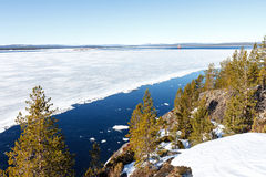 Sea ice is destroyed in the spring. White sea, Russia Stock Image