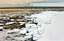 Sea ice is destroyed by tide Stock Photos