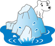 Sea ice and polar bears Stock Photos