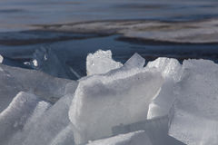 Sea ice in the spring Royalty Free Stock Photo