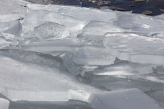 Sea ice in the spring Stock Photo
