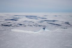 Sea ice in the Weddell Sea stock photo