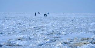 Sea ice. In Xiajiahe seaside park Dalian, China Stock Images