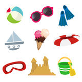 Sea icon set Royalty Free Stock Photos