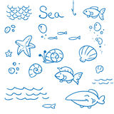 Sea icon set Stock Photos
