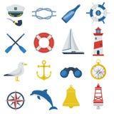 Sea Icon Set Royalty Free Stock Photos