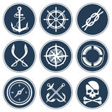 Sea Icon Set Stock Images