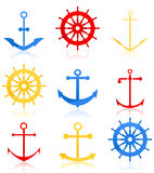 Sea icons Stock Photo