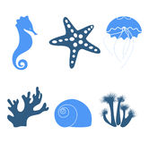Sea icons Royalty Free Stock Photo