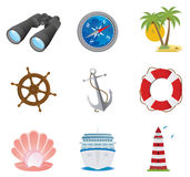 Sea icons Stock Images