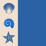 Sea icons Royalty Free Stock Photography