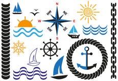 Sea icons Stock Photo