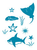Sea icons part two Stock Image