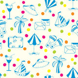 Sea icons seamless pattern Royalty Free Stock Photo
