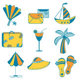 Sea icons set Royalty Free Stock Images