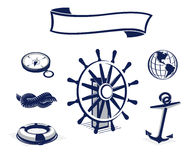 Sea Icons Set Royalty Free Stock Photos