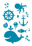 Sea icons set Stock Photography