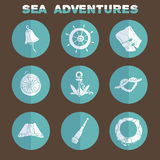 Sea icons Stock Image
