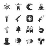 Sea 16 icons universal set for web and mobile Royalty Free Stock Photos