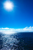 Sea idyll. Sea sun day idyll under blue sky Royalty Free Stock Images