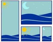 Sea illustrations Stock Image