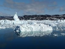 The sea at Ilulissat Royalty Free Stock Photos