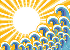 Sea image with sunlight.Vector vector illustration
