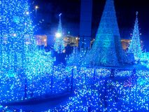 The sea of incredible blue LED illuminations. Stock Image