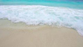Sea or indian ocean waves on beach stock footage