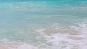 Sea or indian ocean waves on beach stock video