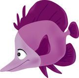 Sea inhabitant fish. Vector illustration Royalty Free Stock Images