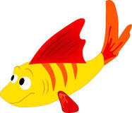 Sea inhabitant fish. Vector illustration Stock Image