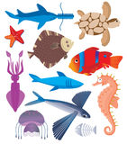 Sea inhabitants stock illustration