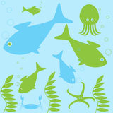 Sea inhabitants life Royalty Free Stock Image