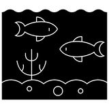Sea inside  icon, vector illustration, sign on isolated background Royalty Free Stock Photos